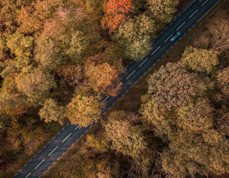 auto in de herfst
